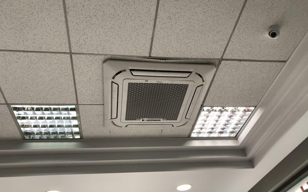Τοποθέτηση κλιματιστικού MIDEA κασέτα compact inverter 24.000btu