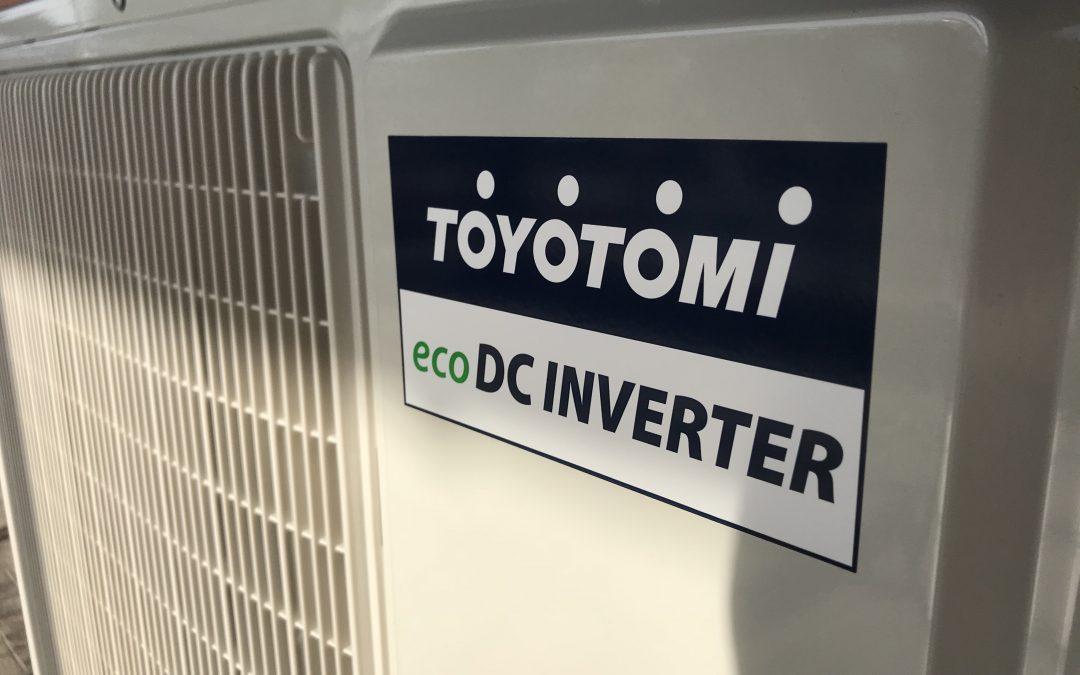 Εγκατάσταση κλιματιστικού toyotomi eco dc inverter 24.000btu
